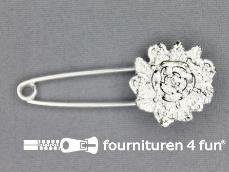 Kiltspeld 50mm bloem - zilver