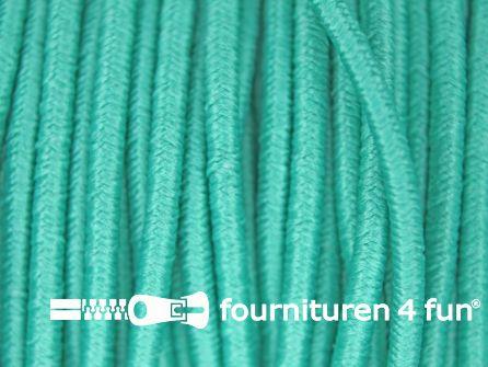 5 meter elastisch koord 2,5mm turquoise-groen