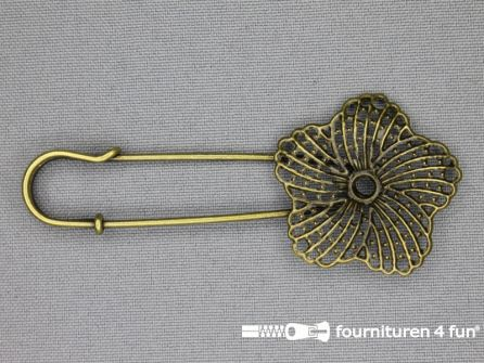 Kiltspeld 70mm bloem - brons