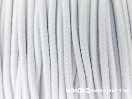 5 meter elastisch koord 2,5mm wit