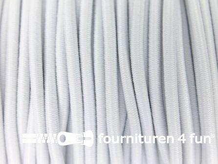 Rol 100 meter elastisch koord 2,5mm wit