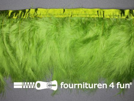 Verenband 150mm licht gras groen - met olijf groene band