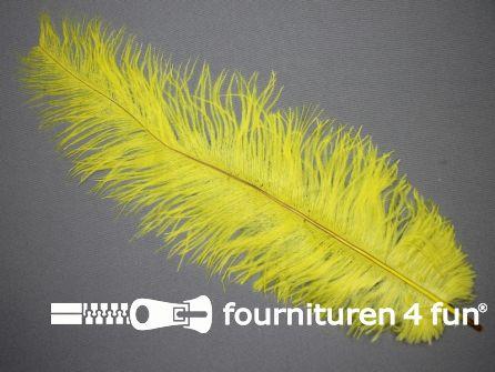 Struisvogelveer 250mm - 300mm geel