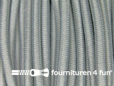 Rol 50 meter elastisch koord 3mm midden grijs