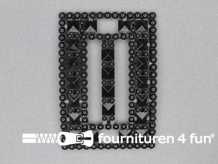 Steam punk gesp 50mm mat zwart