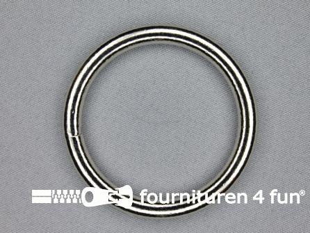 Stalen ring 50mm vernikkeld