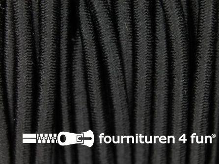 Rol 50 meter elastisch koord 3mm zwart