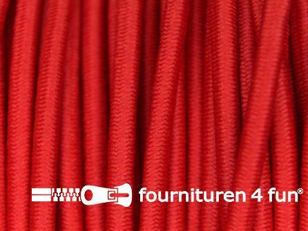 Rol 50 meter elastisch koord 3mm rood
