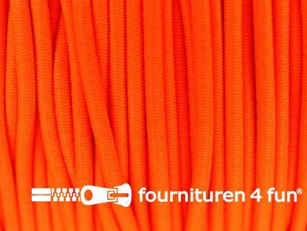 Rol 50 meter elastisch koord 3mm oranje