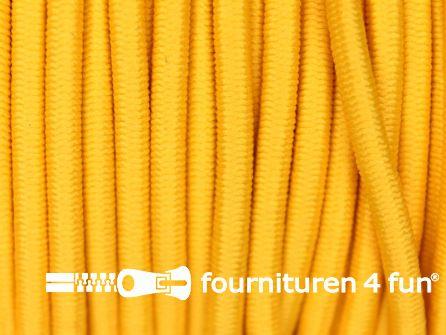 Rol 50 meter elastisch koord 3mm zonnebloem geel