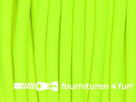 5 meter elastisch koord 3mm neon geel