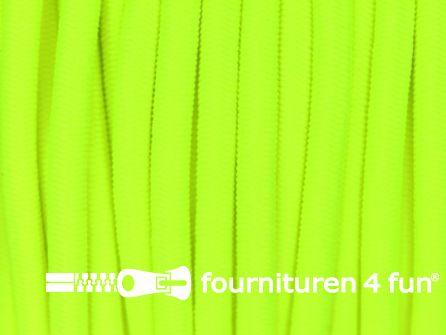 Rol 50 meter elastisch koord 3mm neon geel