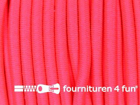 5 meter elastisch koord 3mm neon roze