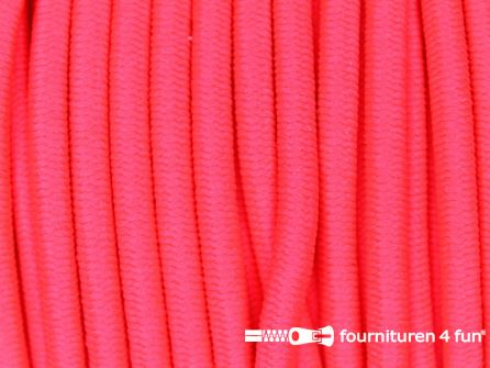 Rol 50 meter elastisch koord 3mm neon roze