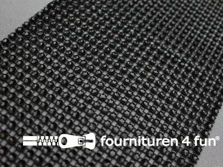 Strass band 115mm mini-cirkels zwart
