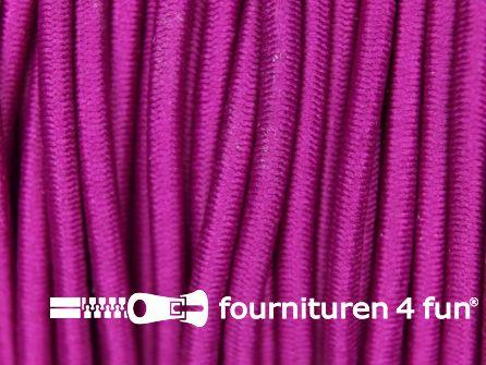 Rol 50 meter elastisch koord 3mm cyclaam