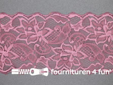 Elastisch kant 80mm antique roze