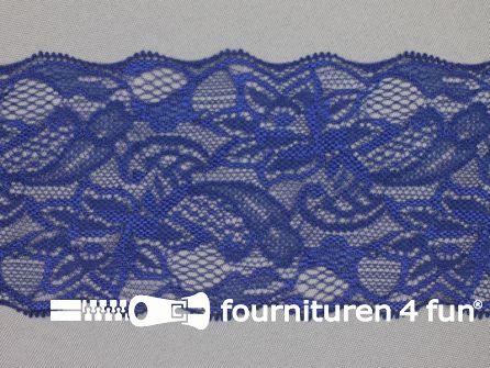 Elastisch kant 80mm donker blauw