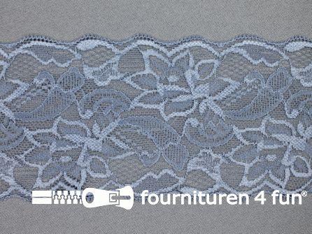 Elastisch kant 80mm midden grijs