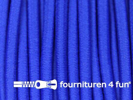 Rol 50 meter elastisch koord 3mm kobalt blauw