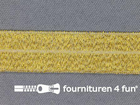 Elastische lurex biasband 16mm goud