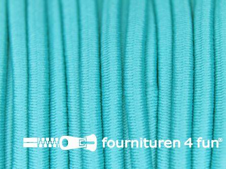 5 meter elastisch koord 3mm aqua blauw