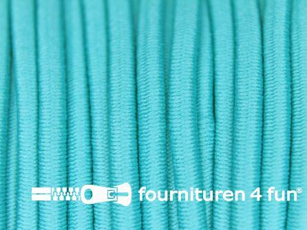 Rol 50 meter elastisch koord 3mm aqua blauw