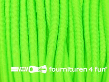 Rol 50 meter elastisch koord 3mm neon groen