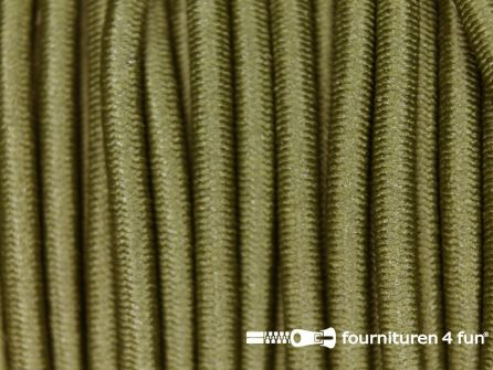 5 meter elastisch koord 3mm leger groen