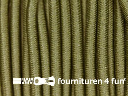 Rol 50 meter elastisch koord 3mm leger groen