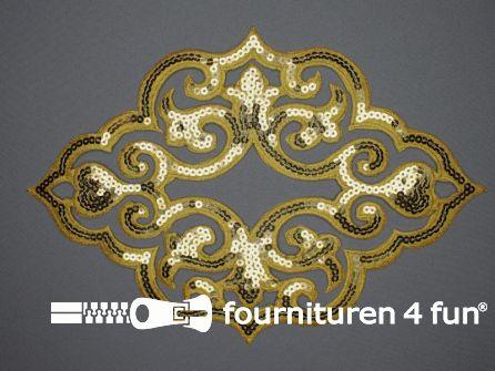 Pailletten applicatie 290x200mm extra large goud