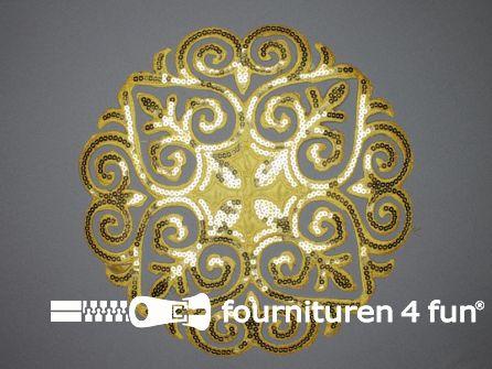 Pailletten applicatie 290x285mm extra large goud