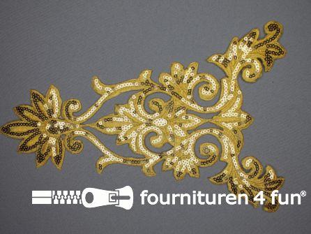 Pailletten applicatie 255x162mm extra large goud