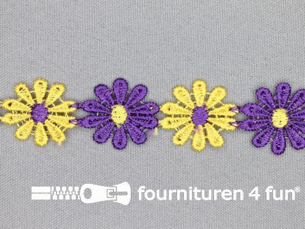 Bloemenkant 24mm paars-geel