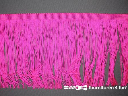 Charleston franje 150mm neon roze