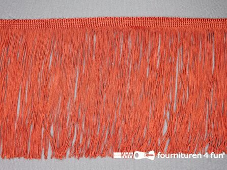 Charleston franje 150mm oranje rood