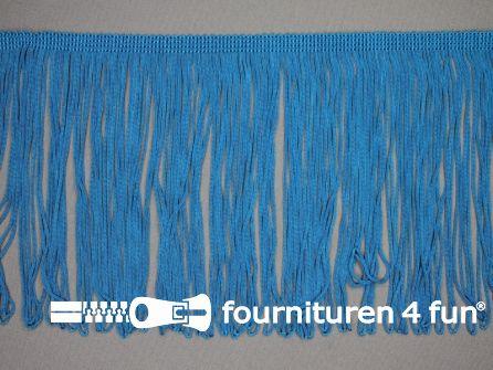 Charleston franje 150mm aqua blauw