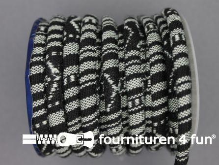 Ibiza koord 8mm zwart wit