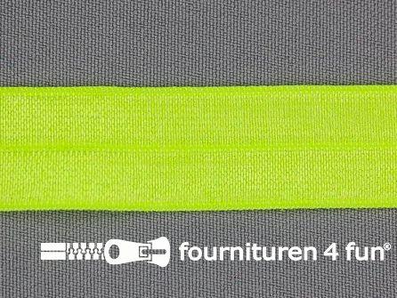 Elastische biasband 20mm neon geel