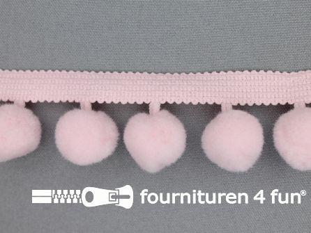 Bolletjesband 40mm licht roze