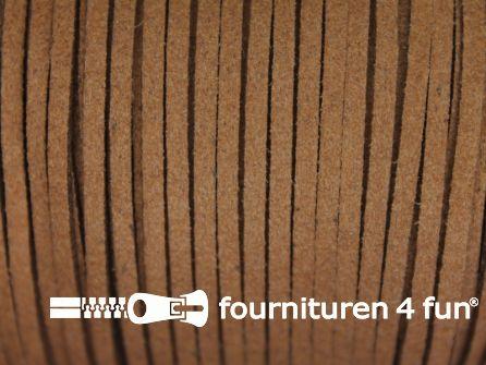 Suedine koord 3mm licht bruin 4,5 meter