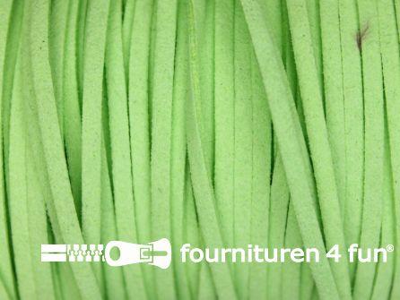Suedine koord 3mm lime groen 5 meter