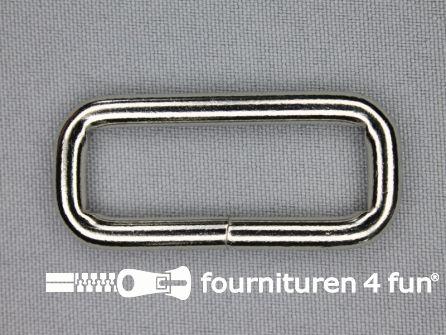 Schuifpassant 40mm zilver heavy duty