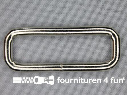 Schuifpassant 50mm zilver heavy duty