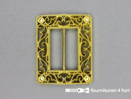 Steam punk gesp 40mm goud