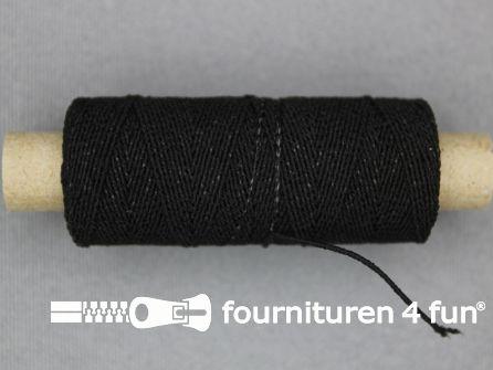 Elastisch garen 30m zwart