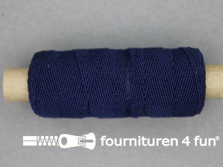 Elastisch garen 30m donker blauw