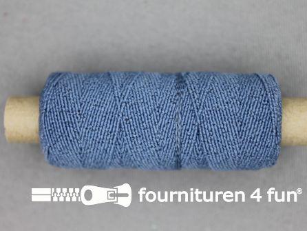 Elastisch garen 30m jeans blauw