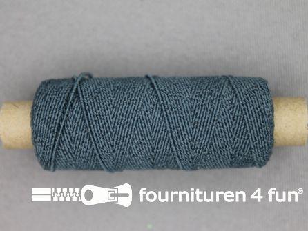 Elastisch garen 30m staal grijs