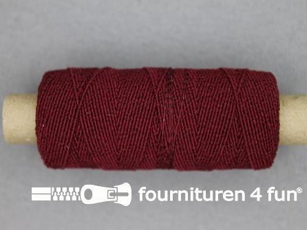 Elastisch garen 30m donker rood